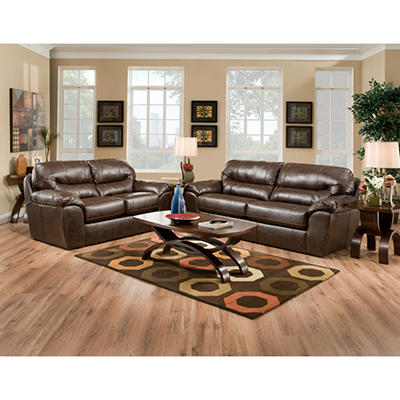 Quest Carlise Living Room Set - 8 pc.