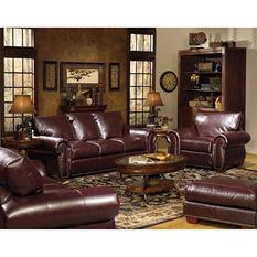 Franklin 4-Piece Leather Living Room Set