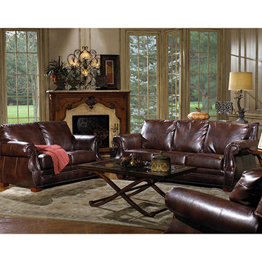 Quest Furniture Julien 3 Piece Leather Living Room Set Sam 39 S Club