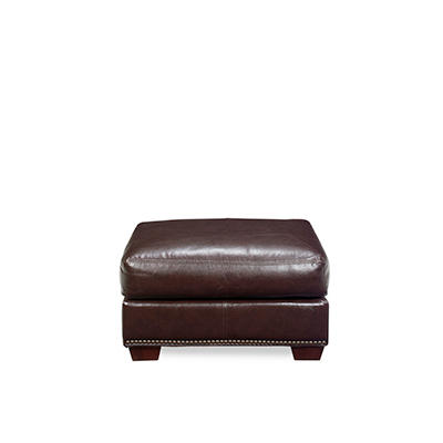 Franklin Leather Ottoman