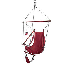 Blue Sky Outdoor Hammock Hanging Chair with Armrests, with Free Tree Straps
