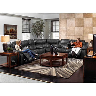 Santa Barbara Reclining Sectional Living Room 3 Piece Set Sam 39 S Club