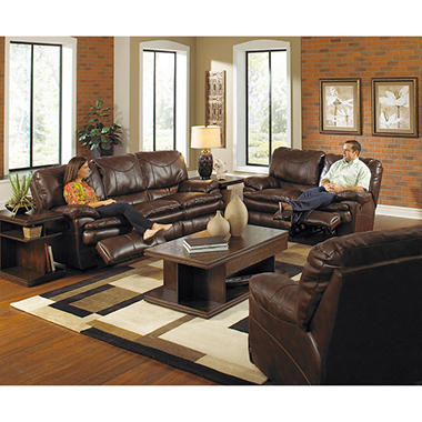 Hope park reclining living room 2 piece set sam 39 s club for Living room 3 piece sets