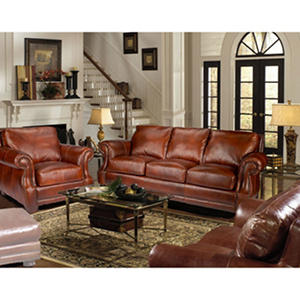 Bristol Vintage Leather Craftsman Living Room 3-Piece Set