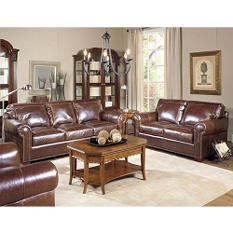Ashland Vintage Leather Craftsman Living Room 3-Piece Set