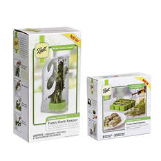 Ball Mason Herb Starter + Fresh Herb Keeper Kit
