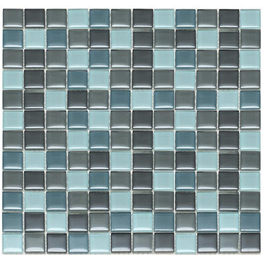 "Mixed Gray Mosaic Glass Tile - 6 - 12"" x 12"" Sheets"