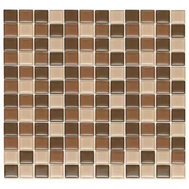 Chocolate Mosaic Glass Tile - 6 - 12