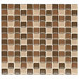 "Chocolate Mosaic Glass Tile - 6 - 12"" x 12"" Sheets"
