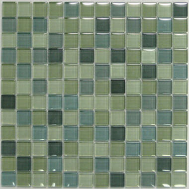 "Light Green Mosaic Glass Tile (6) 12""x12"" Sheets"