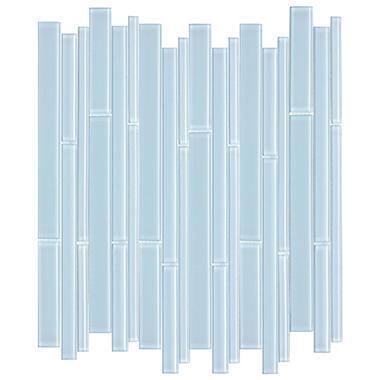 Blue Bamboo Mosaic Glass Tile - 6 - 12