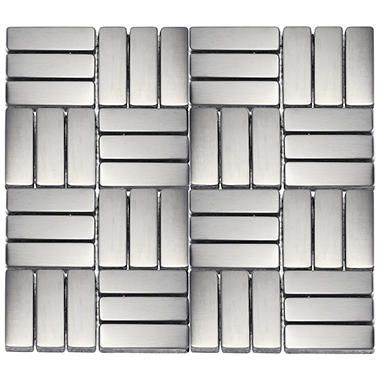 "Small Rectangle Stainless Tile - 6 - 10"" x 10"" Sheets"