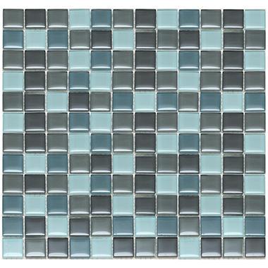 Mixed Gray Mosaic Glass Tile - Sample