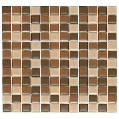 Chocolate Mosaic Glass Tile - Sample