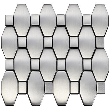 Diamond Mosaic Stainless Tile - Sample