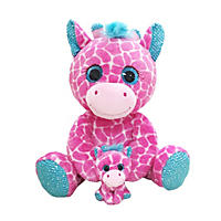 Eye-enormous Plush Giraffe with Baby