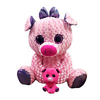 Eye-enormous Plush Pig with Baby