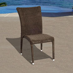 Catalunya Distressed gray Synthetic Wicker Patio Chair Set (4 pcs.)