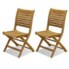 Varese Teak Patio Folding Chair Set (2 pcs.)