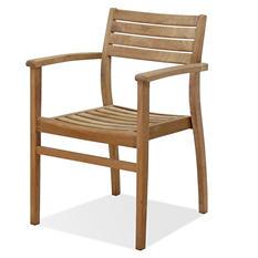 Carpi Teak Patio Stackable Armchair Set (4 pcs.)