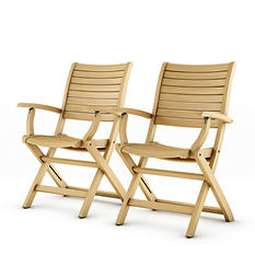 Varese Teak Patio Folding Armchair Set (2 pcs.)