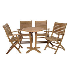 Varese Teak Round Patio Bistro Set (5 pcs.)