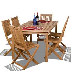 Cittadella Teak Rectangular Patio Dining Set (7 pcs.)