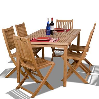 Cittadella Teak Rectangular Patio Dining Set 7 Pcs Sam 39 S Club