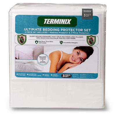 Terminix Ultimate Bedding Protector 3 Piece Set - Various Sizes