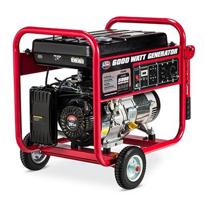 All Power 6,000 Watt Gas Generator - Pull Start