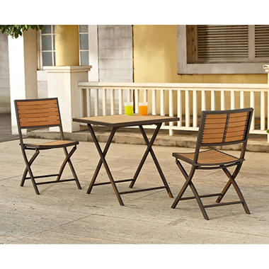 Walnut 3pc Bistro Set
