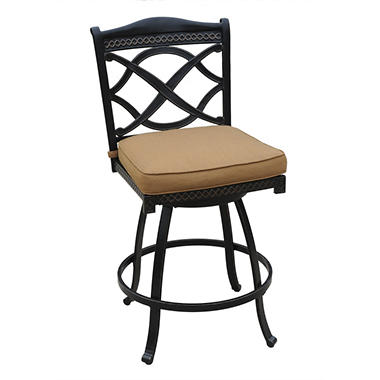 Dunkirk Outdoor Patio Swivel Bar Stool