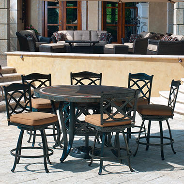 Heirloom Slate Outdoor Patio Dining Set - 7 pc.  Original Price $999.00   Save $200.00