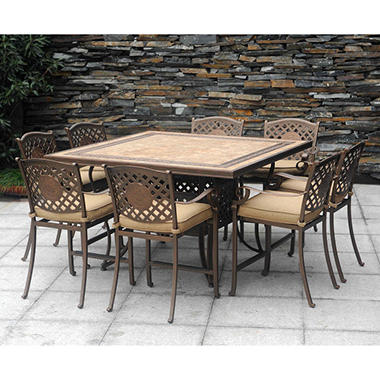 Chateau Patio High Dining Set 9 Pc Outdoor Furniture Patio Furniture Ne