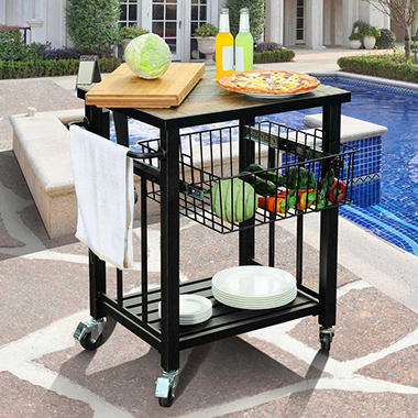 Sunjoy Hansel Serving Cart