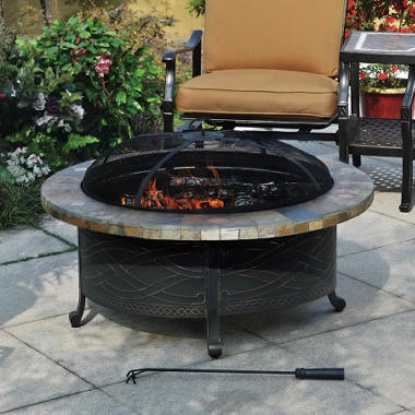 Heirloom Slate Fire Pit with Cover