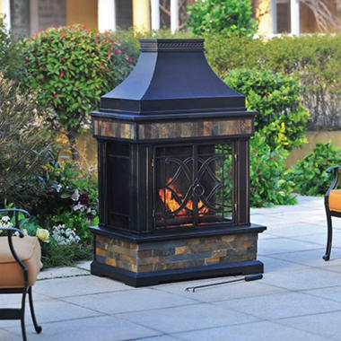 Heirloom Slate Fireplace with Cover