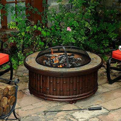 "Sunjoy 36"" Kohala Natural Fire Pit"