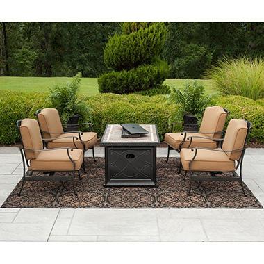 Member's Mark Heirloom Bay 5 pc. Fire Chat Set with Premium Sunbrella® Fabric