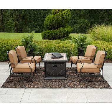 Member's Mark Heirloom Bay 5 pc. Fire Chat Set with Premium Sunbrella® Fabric