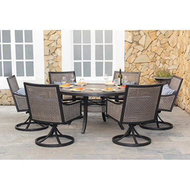Robbins 7 pc. Dining Set with Premium Sunbrella® Fabric