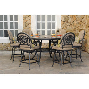Bickman 7 pc. Counter Height Dining Set with Premium Sunbrella® Fabric