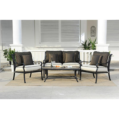 Gracedale 4 pc. Deep Seating Set with Premium Sunbrella® Fabric