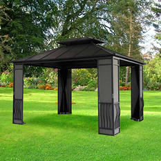 Sunjoy 10' x 12' Carlisle Gazebo-Black Top