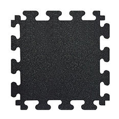 "Fanmats 18"" x 18"" Titan Rubber Tile Flooring, 6-Pack (Black)"
