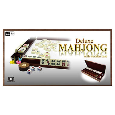 Deluxe Mahjong with Wooden Case