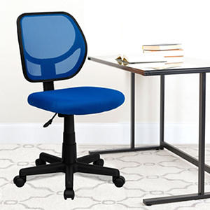 Flash Furniture Mid-Back Mesh Task & Computer Chair Blue