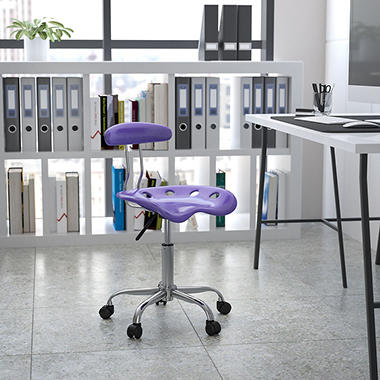 Flash Furniture - Tractor Seat Task Chair - Violet