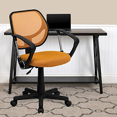 Flash Furniture Mid-Back Mesh Task & Computer Chair with Arms - Orange