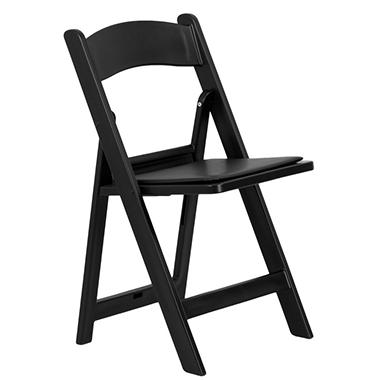 OFFLINE Hercules Resin Folding Chair, Black